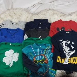 Lot of 10 boys long sleeve tee shirts sz 4T
